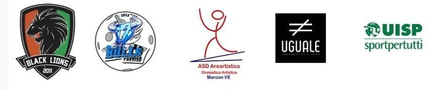 Black Lions Venezia, Treviso Bulls, Asd Areartistica, Uguale e Uisp Sport per tutti