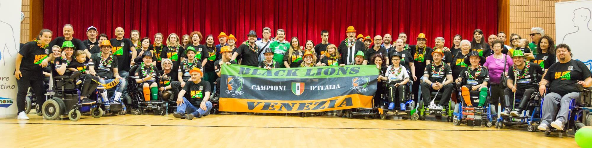 Black Lions Venezia Campioni d'Italia 2016/2017